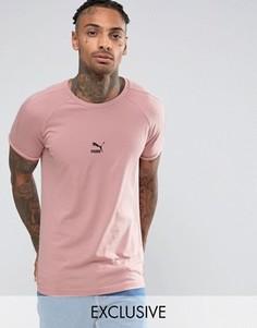 Розовая облегающая футболка с логотипом Puma T7 57443304 - Розовый