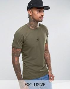 Зеленая облегающая футболка с логотипом Puma T7 57443303 - Зеленый