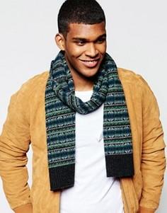 Шерстяной шарф с традиционным узором Фэйр-Айл Original Penguin - Серый