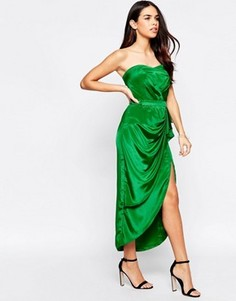Платье бандо миди VLabel Hampton - Зеленый