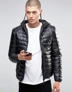 Стеганая куртка с наушниками Brave Soul - Черный