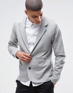 Серый трикотажный блейзер Selected - Серый