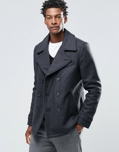 Пальто-бушлат с добавлением шерсти Selected Merser - Черный