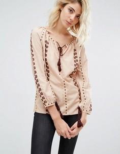 Блузка с вышивкой Gat Rimon Analis Boho - Розовый