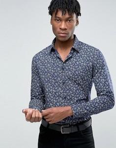 Строгая рубашка узкого кроя с принтом Devils Advocate - Мульти