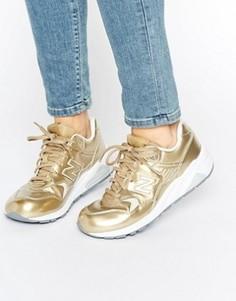 Золотистые кроссовки New Balance 580 - Золотой