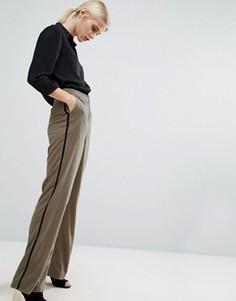 Бархатные пижамные брюки ASOS - Бежевый