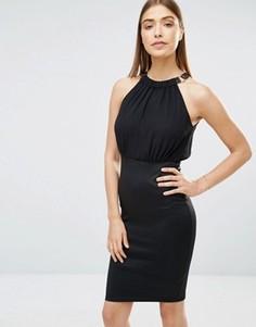 Платье 2-в-1 с шифоновым топом AX Paris - Черный