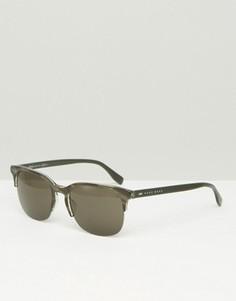 Черные солнцезащитные очки в стиле ретро Hugo Boss - Черный