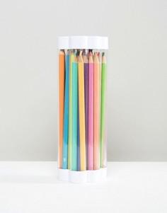 Цветные карандаши и точилка NPW Oh K - Мульти