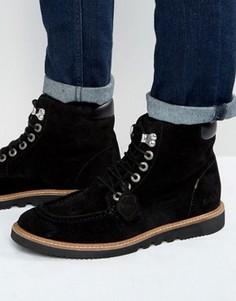 Замшевые ботинки на шнуровке Kickers Kwamie - Черный