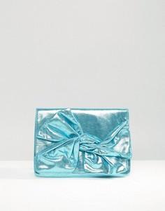 Клатч металлик с бантом ASOS - Синий