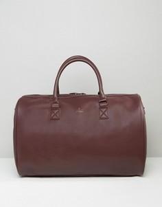 Бордовая сумка с золотистым тиснением ASOS - Красный
