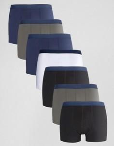 Набор из 7 боксеров-брифов с синим поясом ASOS, СКИДКА - Мульти