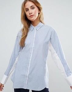 Oversize-рубашка в полоску с контрастными рукавами ASOS - Мульти