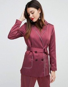 Пижамный жакет с окантовкой ASOS - Красный