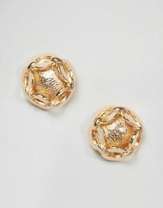 Серьги-гвоздики с цепочками ASOS - Золотой