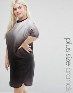 Платье размера плюс с эффектом деграде Elvi - Черный