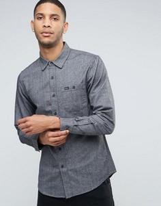 Хлопковая рубашка с карманом RVCA - Черный