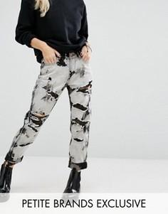 Выбеленные джинсы бойфренда Glamorous Petite - Черный