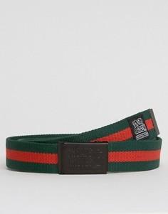 Ремень цвета хаки с красной полоской Cheats and Thieves - Зеленый