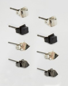 4 пары серег-гвоздиков Icon Brand - Мульти