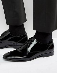 Кожаные лакированные туфли дерби ALDO Lentina - Черный