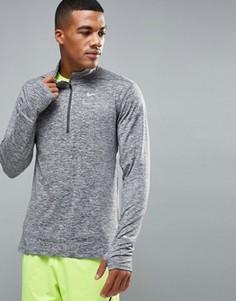 Серый свитшот с горловиной на молнии Nike Running 683485-021 - Серый