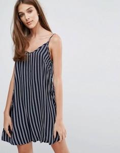 Свободное платье в полоску Madam Rage - Темно-синий