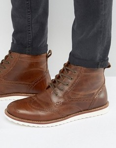 Светло-коричневые ботинки-броги Red Tape - Рыжий