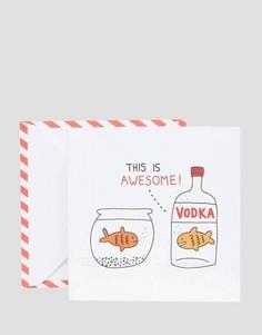 Открытка Ohh Deer Vodka Goldfish - Мульти