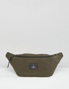 Парусиновая сумка-кошелек на пояс цвета хаки ASOS - Зеленый
