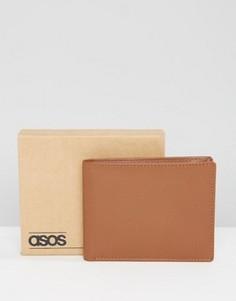 Светло-коричневый кожаный кошелек ASOS - Рыжий