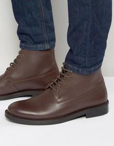 Бордовые кожаные ботинки на шнуровке KG By Kurt Geiger - Красный