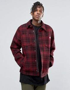 Клетчатая куртка на молнии Dickies - Красный
