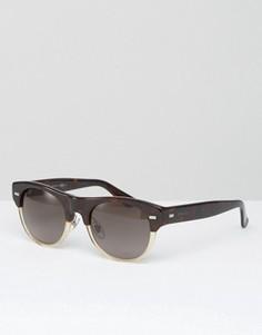 Круглые солнцезащитные очки в прозрачно‑черепаховой оправе Gucci - Коричневый