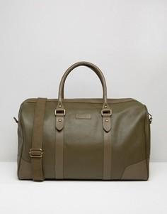 Структурированная кожаная сумка цвета хаки Barneys - Зеленый Barneys Originals