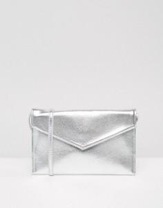 Сумка-конверт через плечо ASOS - Серебряный