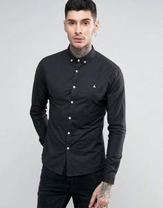 Темно-синяя оксфордская рубашка скинни ASOS - Темно-синий