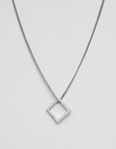 Серебристое ожерелье Icon Brand - Серебряный