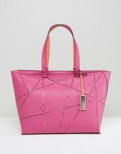 Сумка-тоут с перфорацией Calvin Klein - Розовый