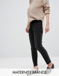 Выбеленные зауженные джинсы для беременных New Look Maternity - Черный