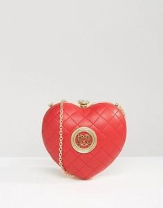 Структурированная сумка через плечо Love Moschino - Красный