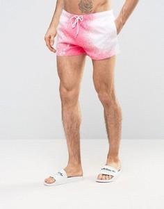 Шорты для плавания с принтом Boardies Shortie - Розовый