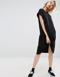 Платье миди с запахом ASOS WHITE - Черный