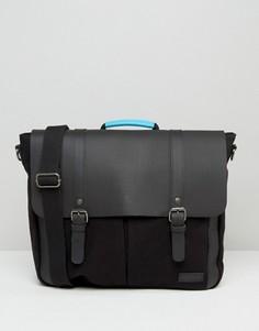 Черный кожаный портфель Forbes & Lewis Wiltshire - Черный