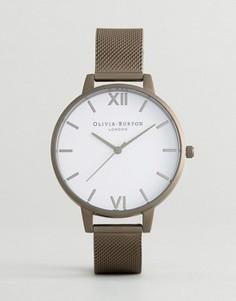Часы цвета пушечной бронзы с сетчатым ремешком Olivia Burton - Серый