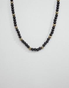 Ожерелье из бусин Icon Brand - Черный