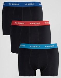Комплект из 3 боксеров Ben Sherman - Черный