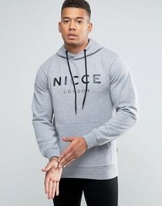 Худи с большим логотипом Nicce London - Серый